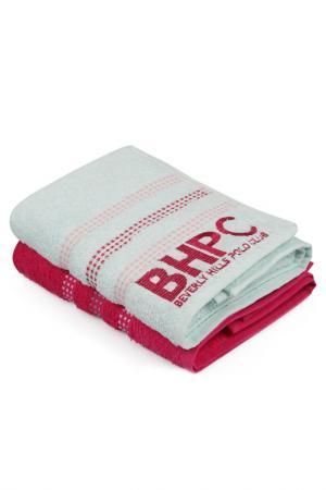 Набор полотенец для рук, 50х90 Beverly Hills Polo Club. Цвет: mint, fuchsia