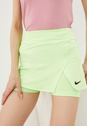 Юбка-шорты Nike W NKCT DF VCTRY SKIRT STR. Цвет: зеленый