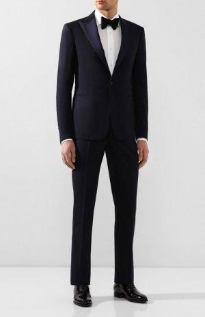 Шерстяной смокинг Ralph Lauren. Цвет: синий