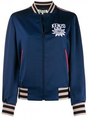 Куртка-бомбер с вышивкой Kenzo. Цвет: синий