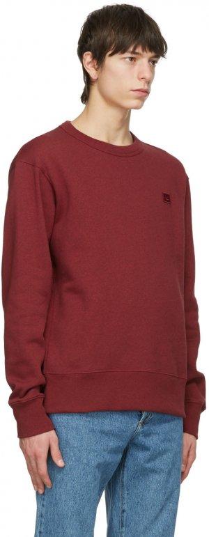 Red Patch Sweatshirt Acne Studios. Цвет: deep red