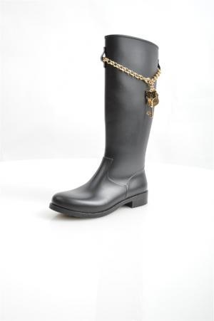 Резиновые сапоги Love Moschino. Цвет: черный