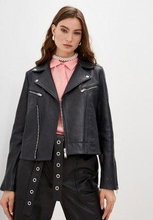 Куртка кожаная Claudie Pierlot. Цвет: синий