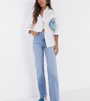 Голубые прямые джинсы в стиле 90-х с классической талией -Синий ASOS DESIGN