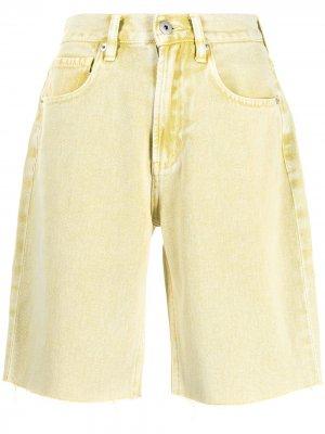 Джинсовые шорты Ground Zero. Цвет: желтый