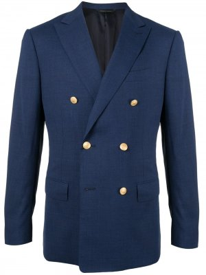 Durban двубортный пиджак D'urban. Цвет: синий