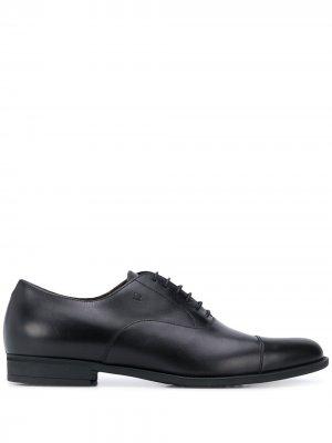 Туфли оксфорды с логотипом Fratelli Rossetti. Цвет: черный
