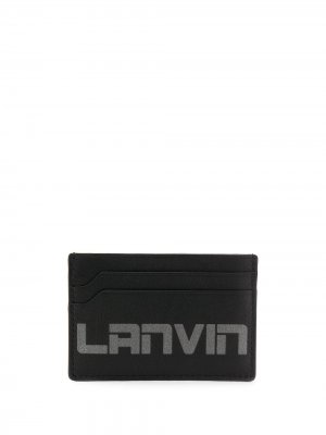 Картхолдер с логотипом LANVIN. Цвет: черный