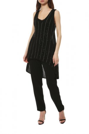 Пуловер Brunello Cucinelli. Цвет: черный, бежевый, пайетки