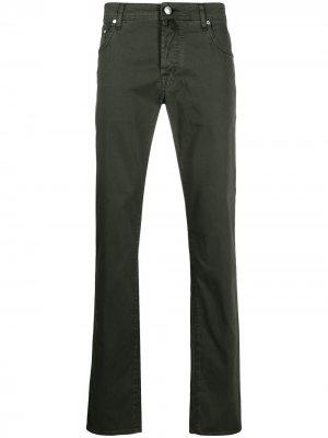 Узкие джинсы средней посадки Jacob Cohen. Цвет: зеленый