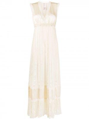 Плиссированное платье ампирного силуэта Antonio Marras. Цвет: нейтральные цвета