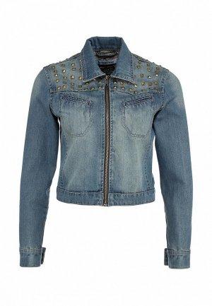 Куртка джинсовая LiberaVita LI002EWIL865. Цвет: голубой