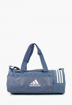 Сумка спортивная adidas CVRT 3S DUF S. Цвет: синий