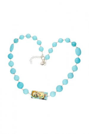 Ожерелье ZECCHIN VENICE. Цвет: голубой