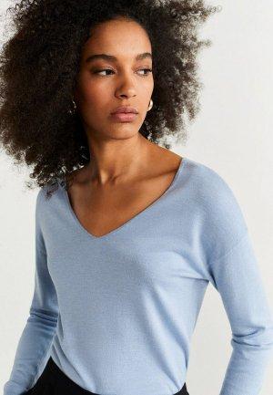 Пуловер Mango - HARAMON. Цвет: голубой