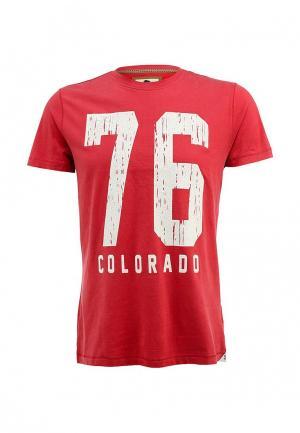 Футболка Colorado Jeans. Цвет: красный