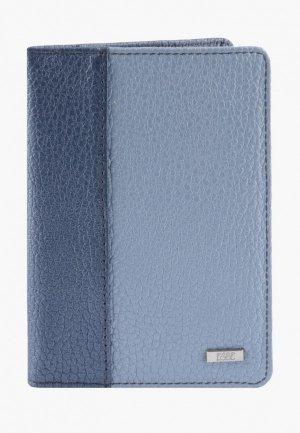 Обложка для паспорта Esse PAGE. Цвет: голубой