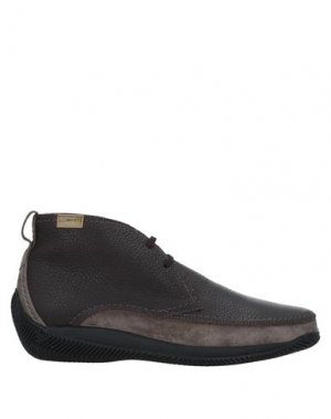 Полусапоги и высокие ботинки LO.WHITE. Цвет: темно-коричневый