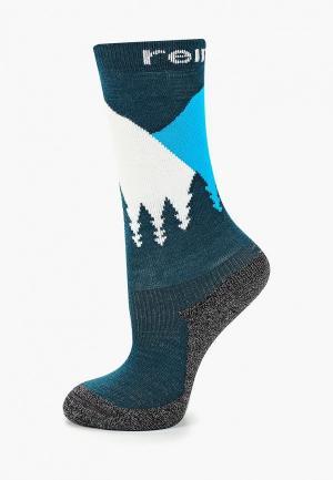Носки Reima Ski Day. Цвет: зеленый