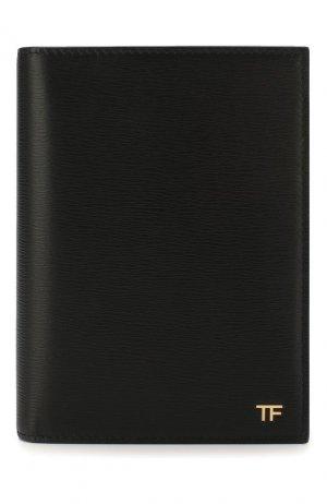 Кожаная обложка для паспорта Tom Ford. Цвет: чёрный