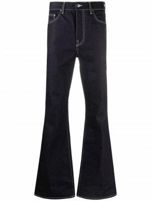 Расклешенные джинсы средней посадки AMIRI. Цвет: синий