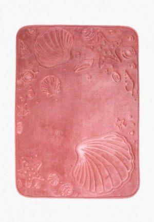 Коврик для ванной DeNastia РАКУШКИ. Цвет: розовый