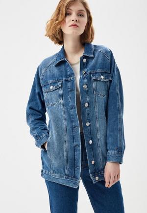 Куртка джинсовая Tommy Jeans TO052EWAIIN7. Цвет: синий