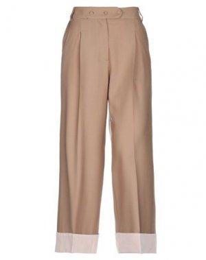 Повседневные брюки MAISON FLÂNEUR. Цвет: песочный