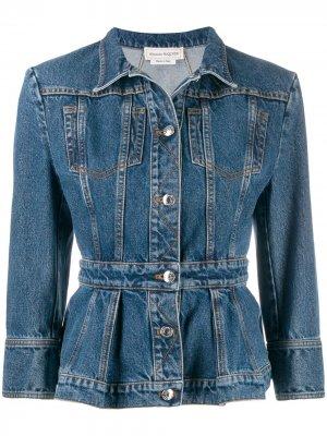 Приталенная джинсовая куртка Alexander McQueen