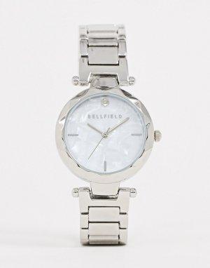 Женские наручные часы серебристого цвета -Серебряный Bellfield