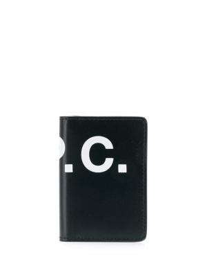 Бумажник с логотипом A.P.C.. Цвет: черный