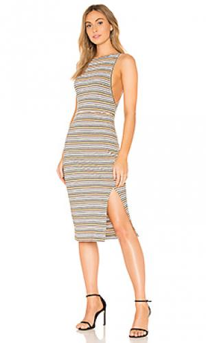 Платье roller girl THE JETSET DIARIES. Цвет: металлический золотой