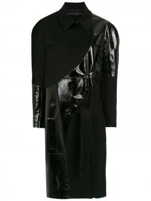 Пальто миди с поясом Gloria Coelho. Цвет: черный
