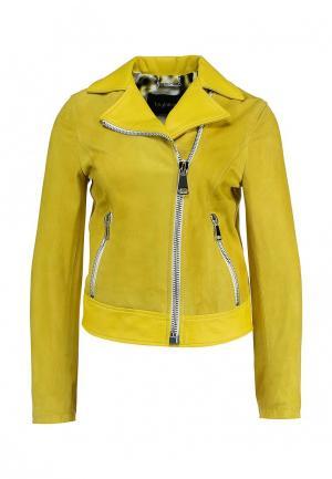 Куртка кожаная Byblos. Цвет: желтый