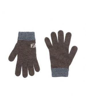 Перчатки FENDI. Цвет: какао