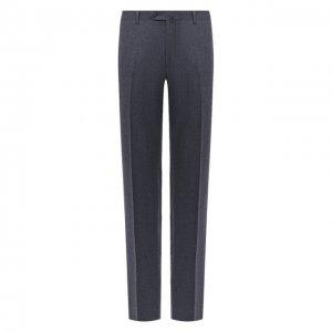 Шерстяные брюки Corneliani. Цвет: синий