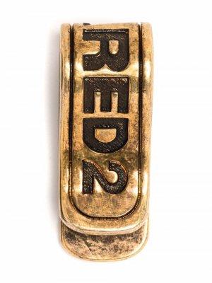 Зажим для банкнот с гравировкой логотипа Dsquared2. Цвет: золотистый