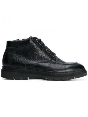 Ботинки по щиколотку на шнуровке Baldinini. Цвет: черный