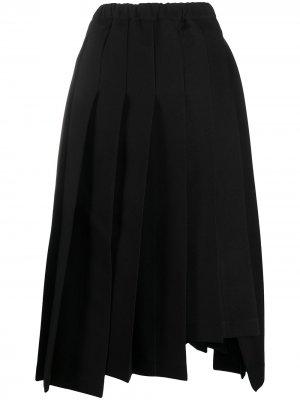 Плиссированная юбка миди Comme Des Garçons. Цвет: черный