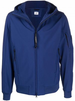 Куртка на молнии с капюшоном C.P. Company. Цвет: синий