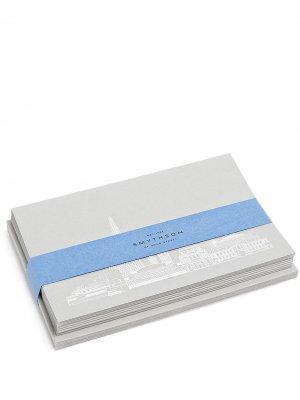 Почтовые открытки с принтом Smythson. Цвет: белый
