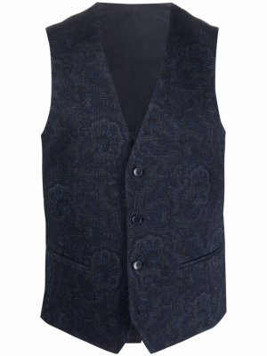 Paisley button-up waistcoat ETRO. Цвет: синий