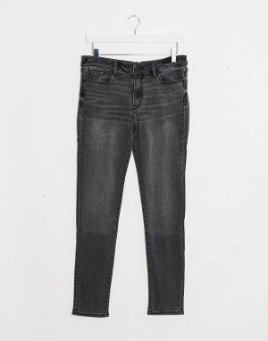 Серые джинсы скинни -Черный Abercrombie & Fitch