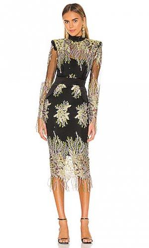 Платье миди twice in a lifetime Zhivago. Цвет: черный