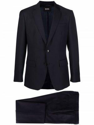 Костюм-двойка с однобортным пиджаком Boss Hugo. Цвет: синий