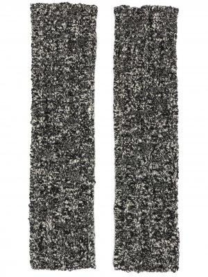 Вязаный перчатки-митенки Dolce & Gabbana. Цвет: черный