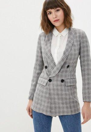 Пиджак Hochusebetakoe. Цвет: серый