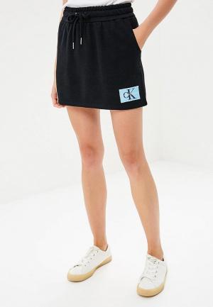 Юбка Calvin Klein Jeans. Цвет: черный