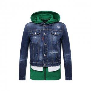 Комплект из куртки и жилета Dsquared2. Цвет: синий