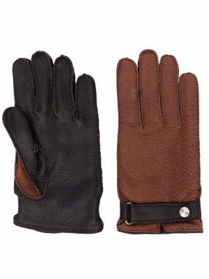 Перчатки с кашемировой подкладкой Kiton. Цвет: коричневый